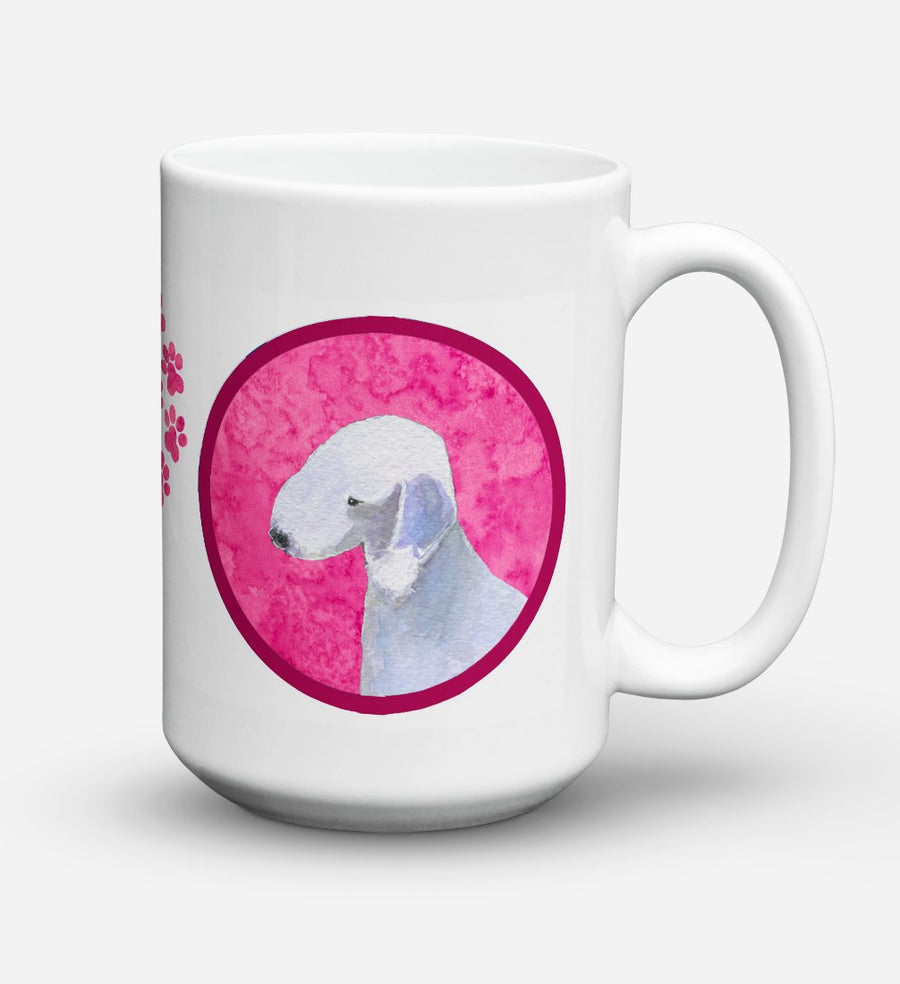 Buy this Bedlington Terrier Dishwasher Safe Microwavable Ceramic Coffee Mug 15 ounce SS4759