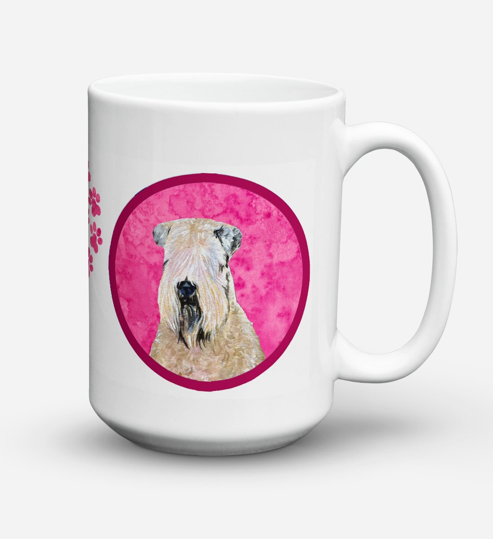Wheaten Terrier Soft Coated Dishwasher Safe Microwavable Ceramic Coffee Mug 15 ounce SS4769 by Caroline's Treasures