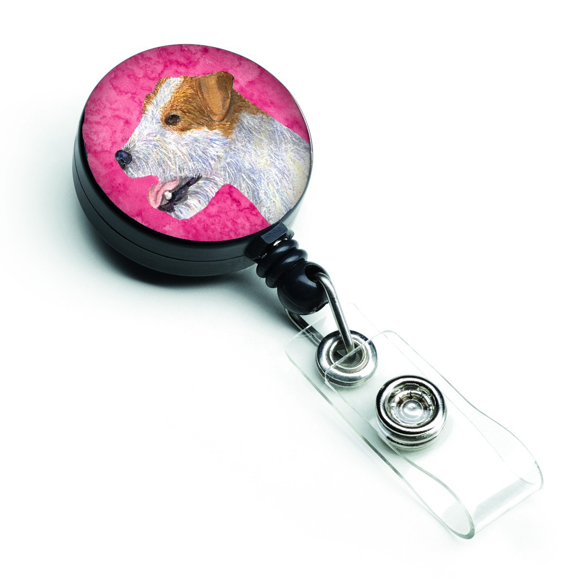Jack Russell Terrier  Retractable Badge Reel or ID Holder with Clip SS4780 by Caroline's Treasures