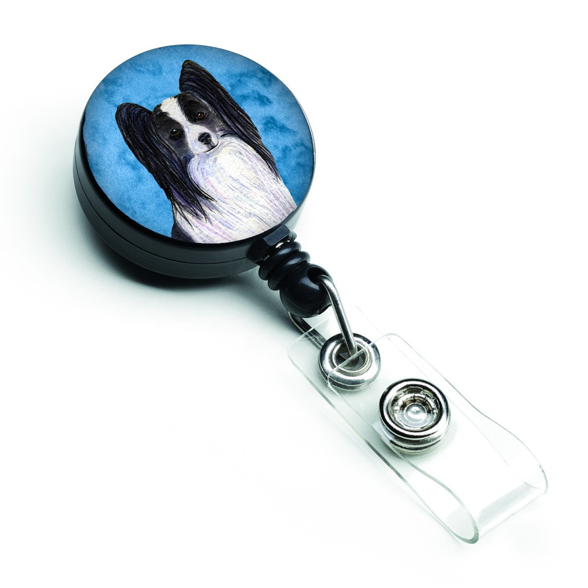 Papillon  Retractable Badge Reel or ID Holder with Clip SS4781 by Caroline's Treasures