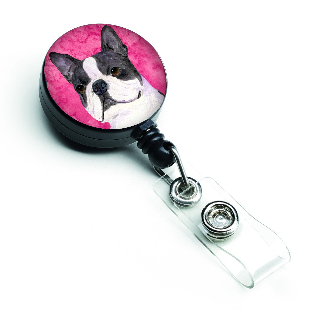 Boston Terrier  Retractable Badge Reel or ID Holder with Clip SS4792 by Caroline's Treasures