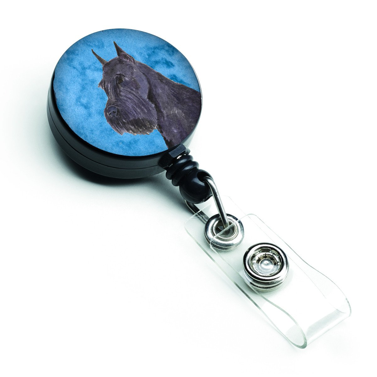 Schnauzer  Retractable Badge Reel or ID Holder with Clip SS4799 by Caroline's Treasures