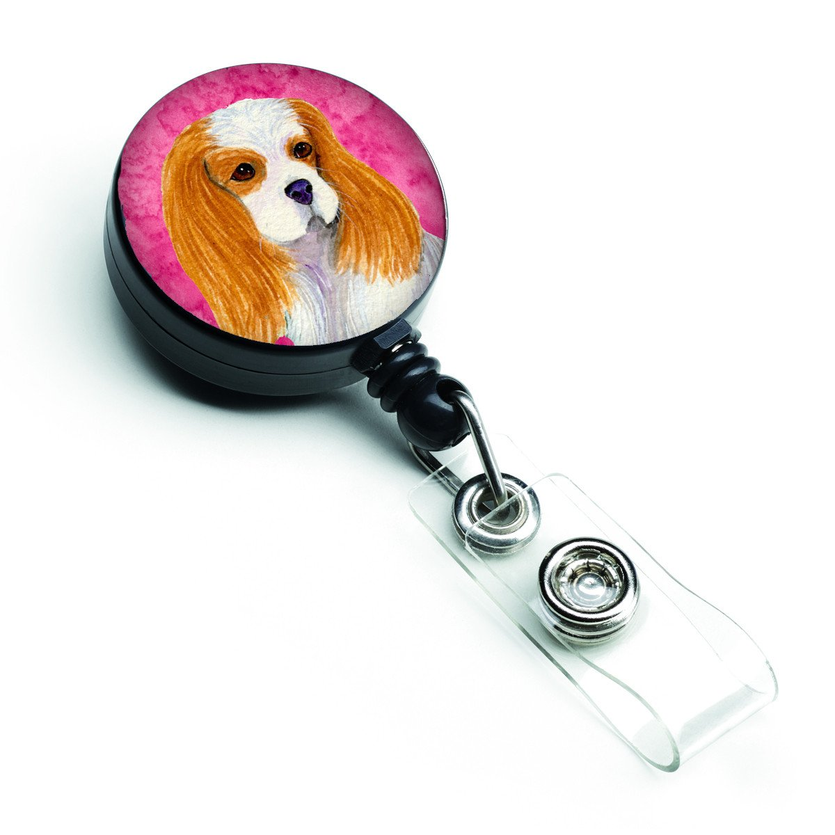 Cavalier Spaniel  Retractable Badge Reel or ID Holder with Clip SS4803 by Caroline's Treasures