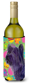Buy this Skye Terrier Easter Eggtravaganza Wine Bottle Beverage Insulator Beverage Insulator Hugger