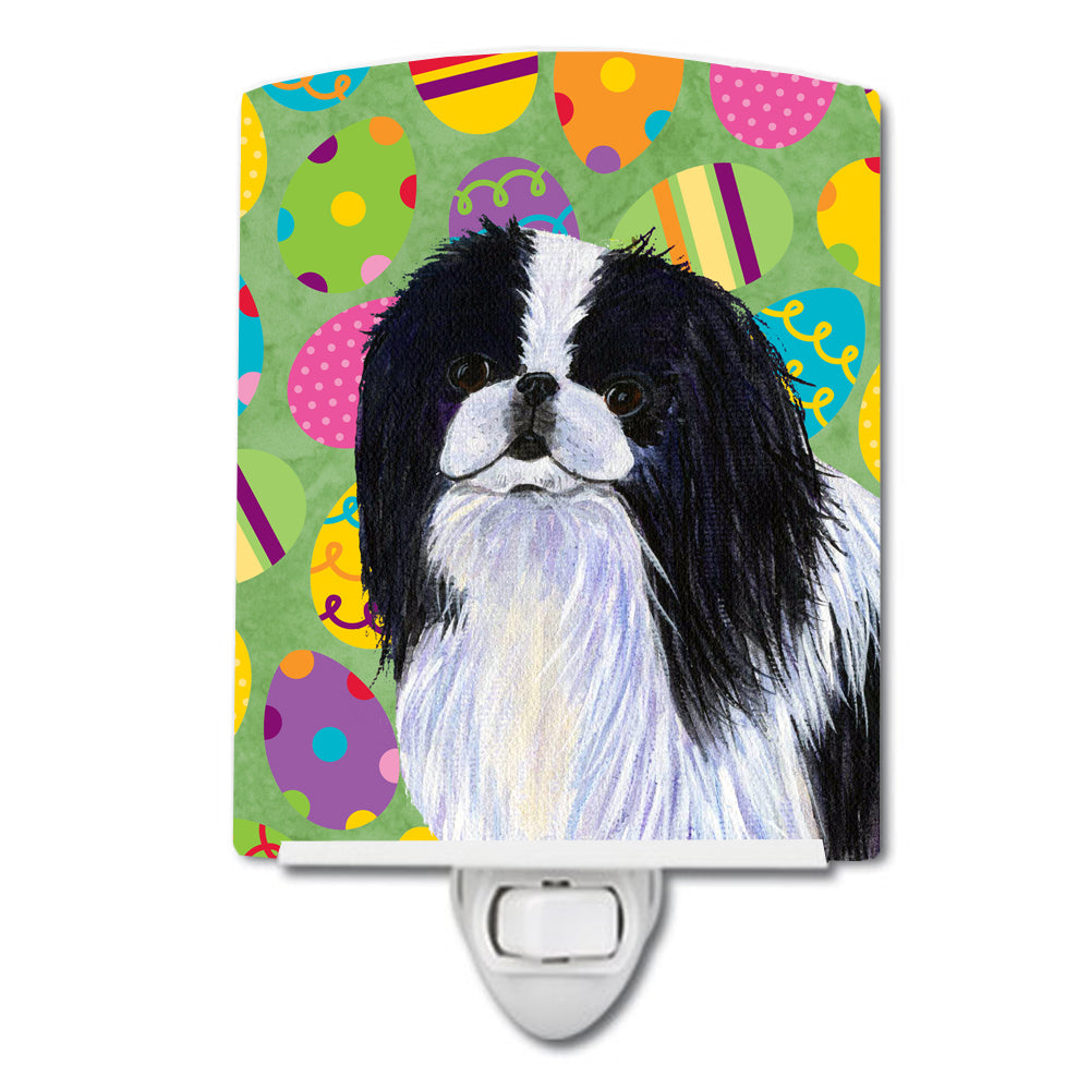 Japanese Chin Easter Eggtravaganza Ceramic Night Light SS4812CNL by Caroline's Treasures