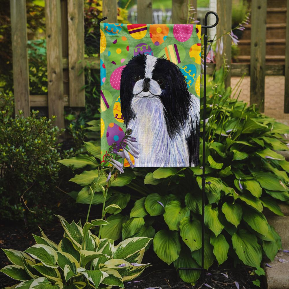 Japanese Chin Easter Eggtravaganza Flag Garden Size by Caroline's Treasures