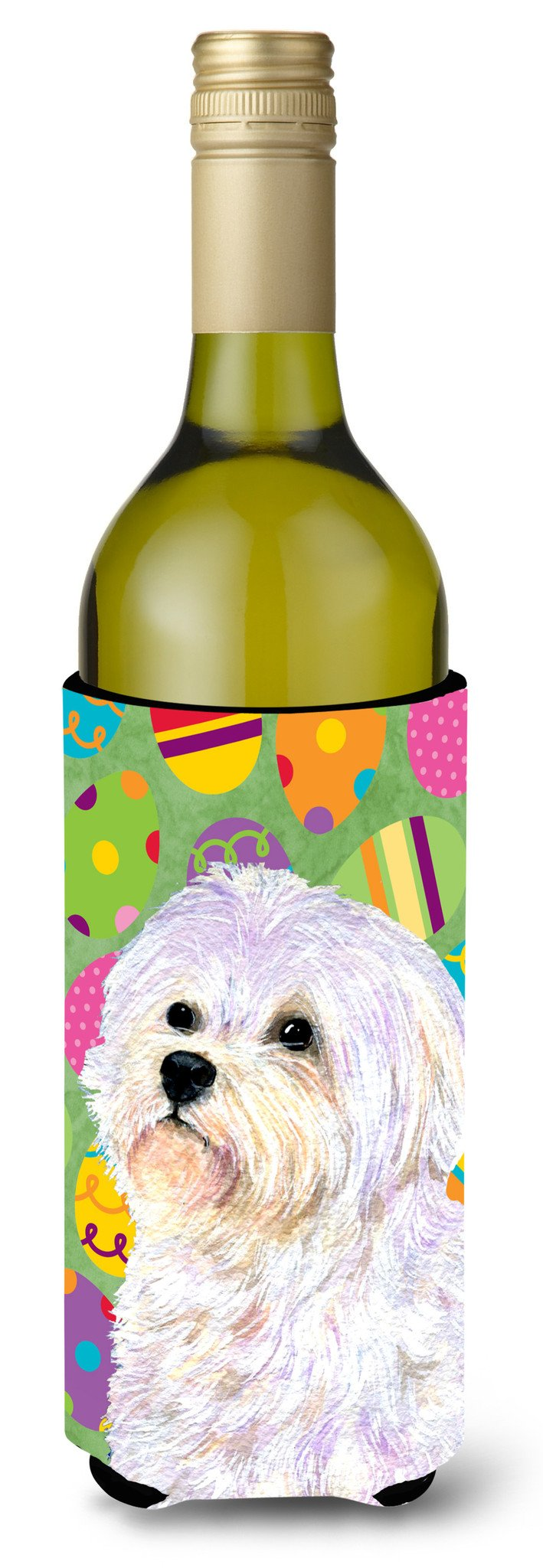Maltese Easter Eggtravaganza Wine Bottle Beverage Insulator Beverage Insulator Hugger by Caroline's Treasures