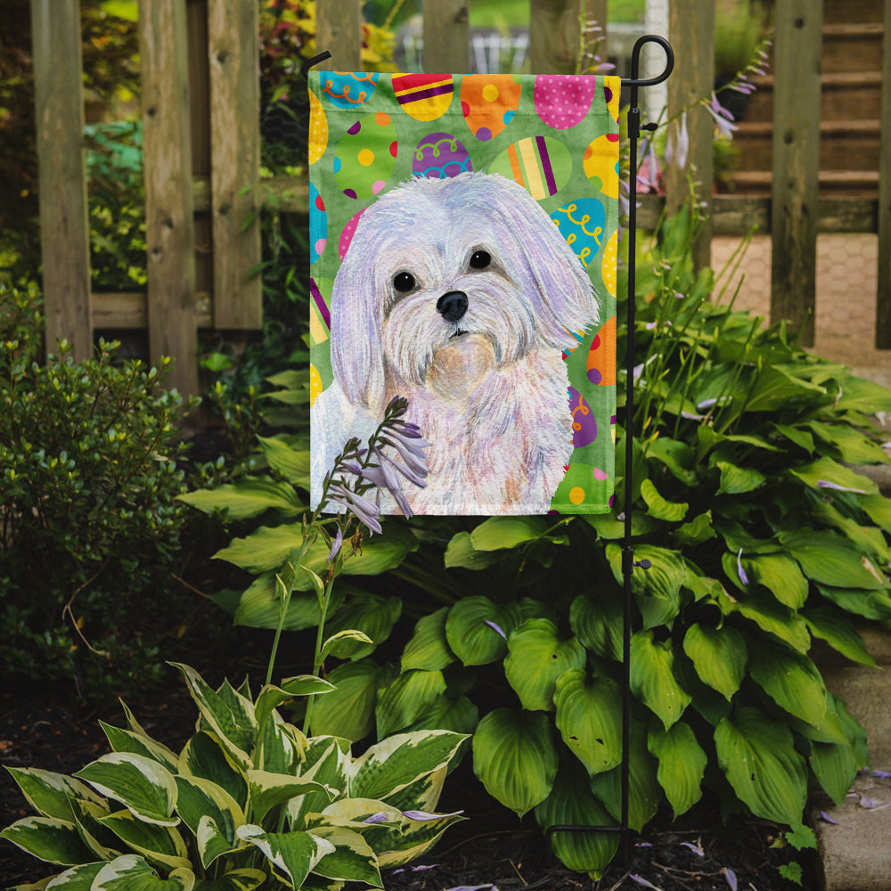 Maltese Easter Eggtravaganza Flag Garden Size by Caroline's Treasures