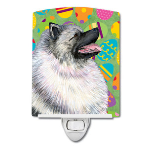 Buy this Keeshond Easter Eggtravaganza Ceramic Night Light SS4833CNL