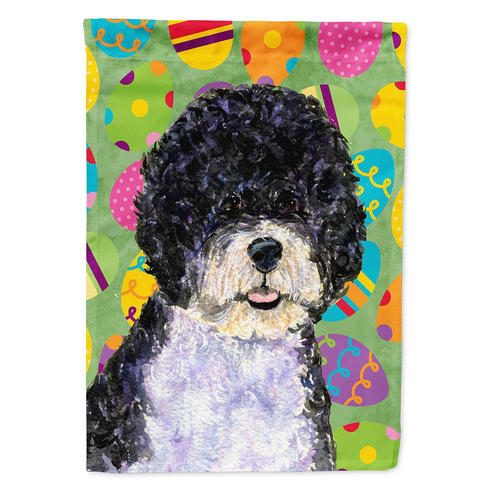 Buy This Portuguese Water Dog Easter Eggtravaganza Flag Garden Size