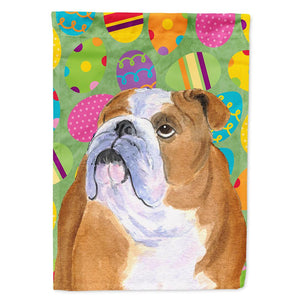 Buy this Bulldog English Easter Eggtravaganza Flag Garden Size