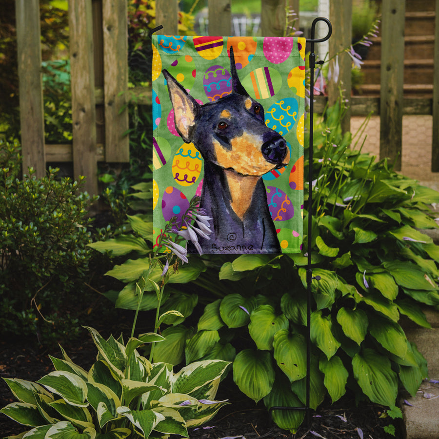 Buy this Doberman Easter Eggtravaganza Flag Garden Size