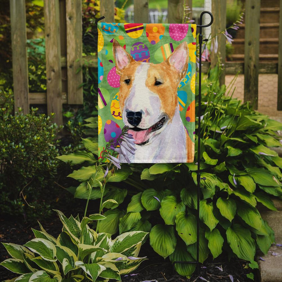 Buy this Bull Terrier Easter Eggtravaganza Flag Garden Size