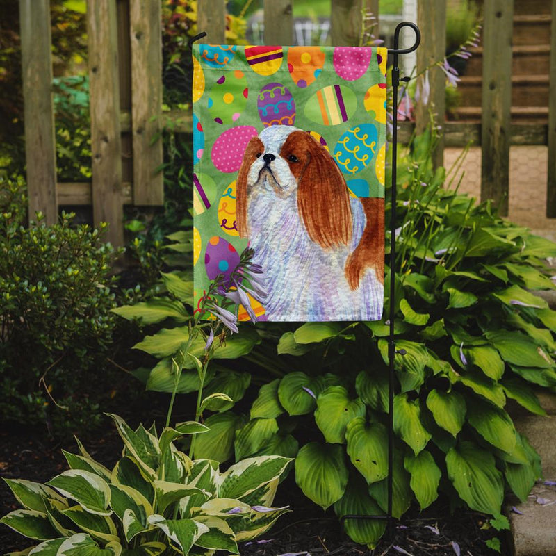 Buy this English Toy Spaniel Easter Eggtravaganza Flag Garden Size