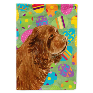 Buy this Sussex Spaniel Easter Eggtravaganza Flag Garden Size