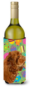 Sussex Spaniel Easter Eggtravaganza Wine Bottle Beverage Insulator Beverage Insulator Hugger by Caroline's Treasures