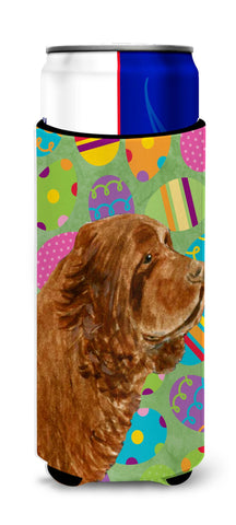 Buy this Sussex Spaniel Easter Eggtravaganza Ultra Beverage Insulators for slim cans SS4855MUK