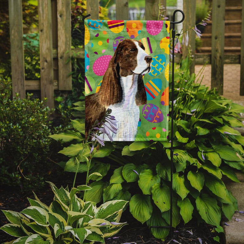 Buy this Springer Spaniel Easter Eggtravaganza Flag Garden Size