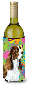 Buy this Springer Spaniel Easter Eggtravaganza Wine Bottle Beverage Insulator Beverage Insulator Hugger SS4858LITERK