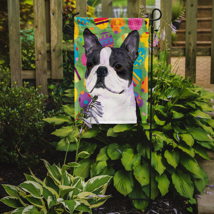 Buy this Boston Terrier Easter Eggtravaganza Flag Garden Size
