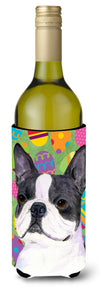 Buy this Boston Terrier Easter Eggtravaganza Wine Bottle Beverage Insulator Beverage Insulator Hugger SS4861LITERK