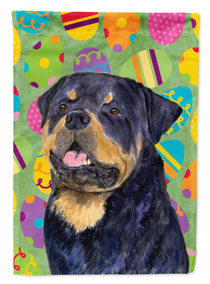 Buy this Rottweiler Easter Eggtravaganza Flag Garden Size