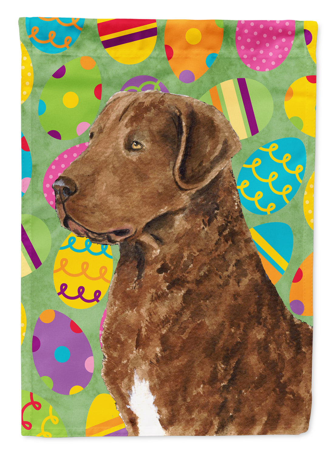 Buy this Chesapeake Bay Retriever Easter Eggtravaganza Flag Garden Size