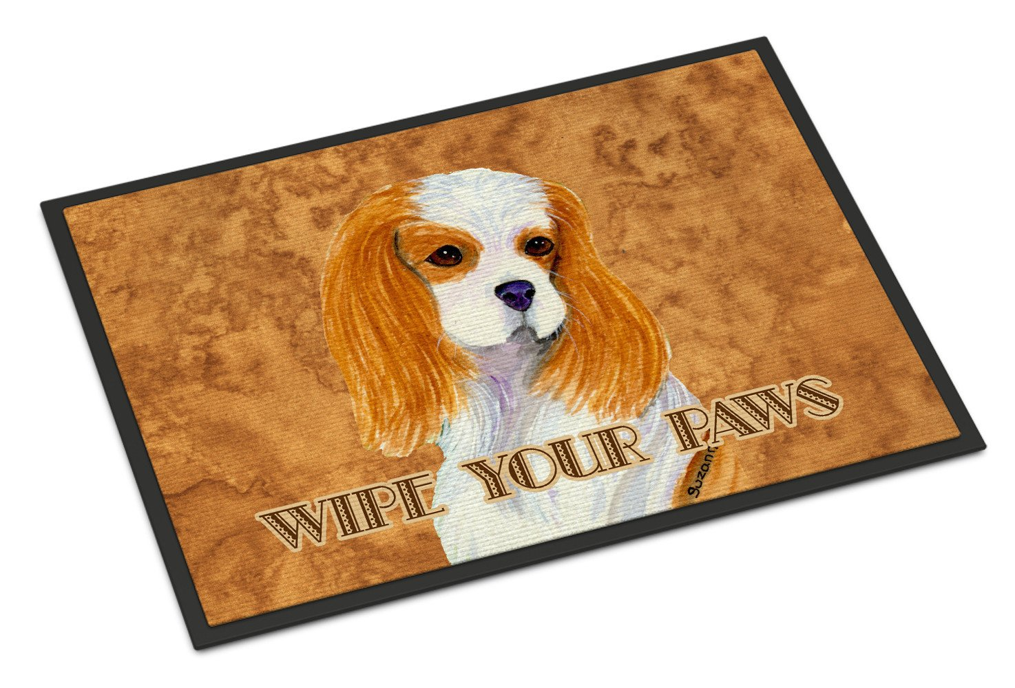 Blenheim Cavalier Spaniel Wipe your Paws Indoor or Outdoor Mat 18x27 SS4877MAT - the-store.com