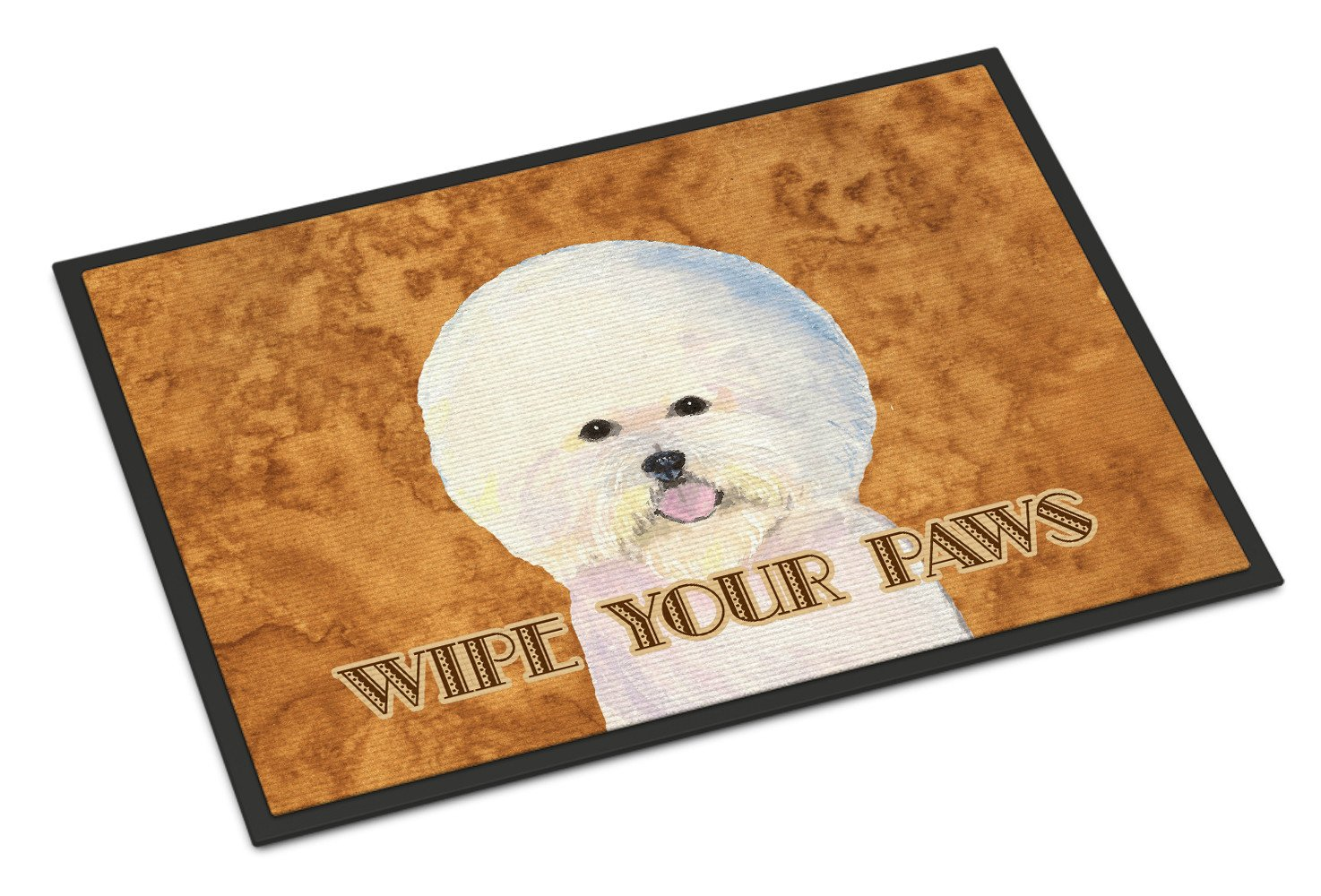 Bichon Frise Wipe your Paws Indoor or Outdoor Mat 18x27 SS4878MAT - the-store.com