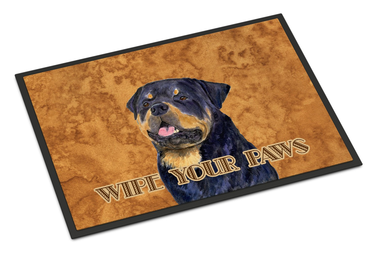 Rottweiler Wipe your Paws Indoor or Outdoor Mat 18x27 SS4880MAT - the-store.com
