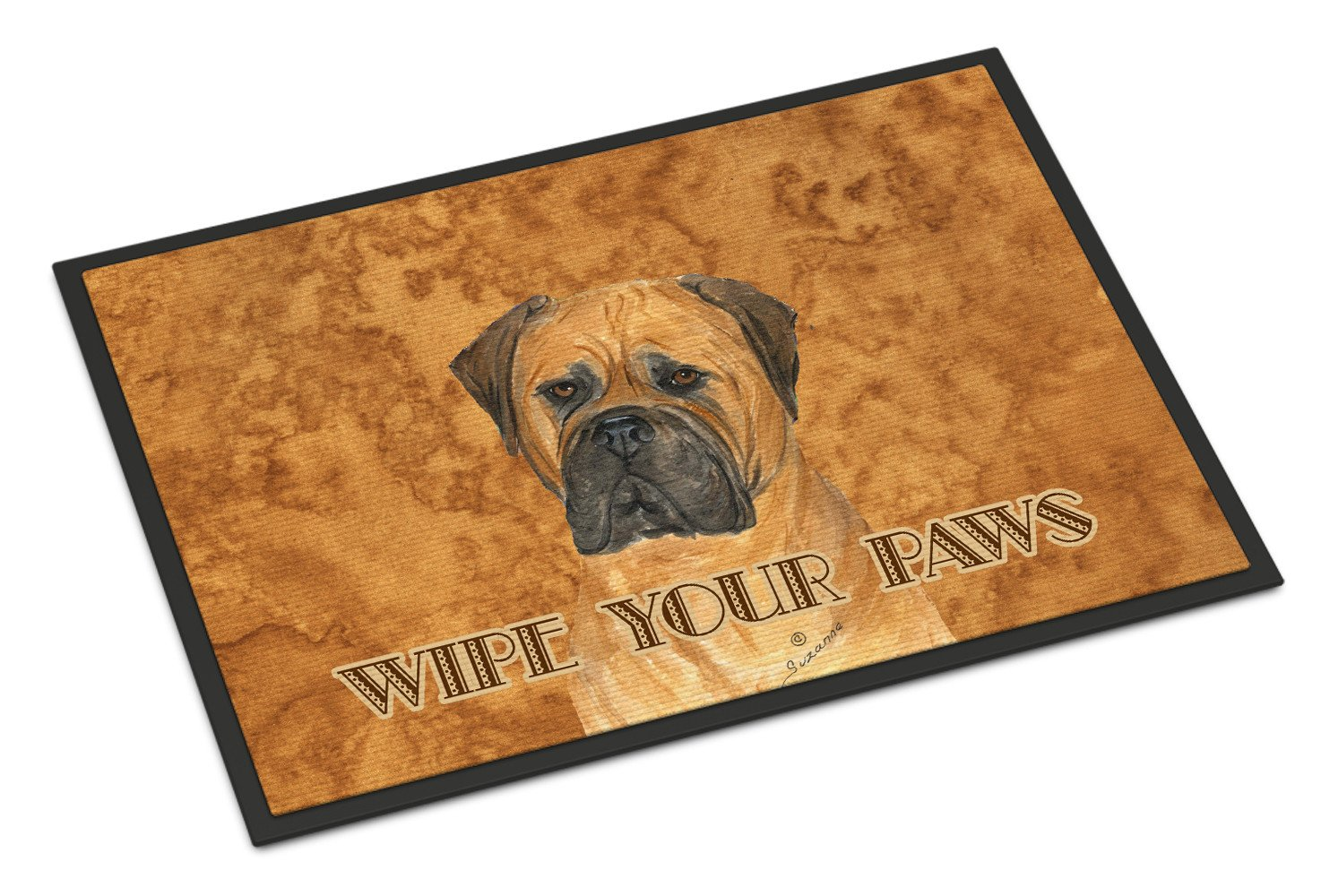 Bullmastiff Wipe your Paws Indoor or Outdoor Mat 18x27 SS4883MAT - the-store.com