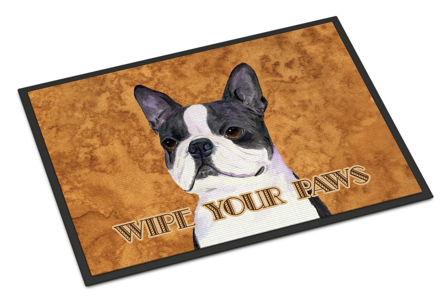 Boston Terrier Wipe your Paws Indoor or Outdoor Mat 18x27 SS4884MAT - the-store.com