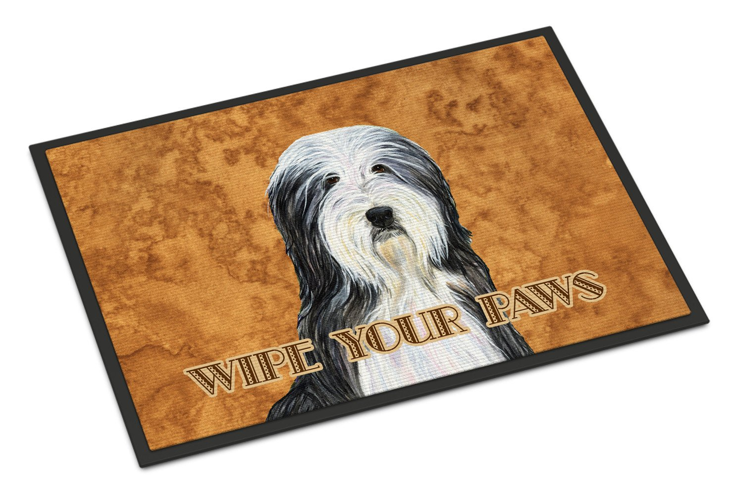 Bearded Collie Wipe your Paws Indoor or Outdoor Mat 18x27 SS4889MAT - the-store.com