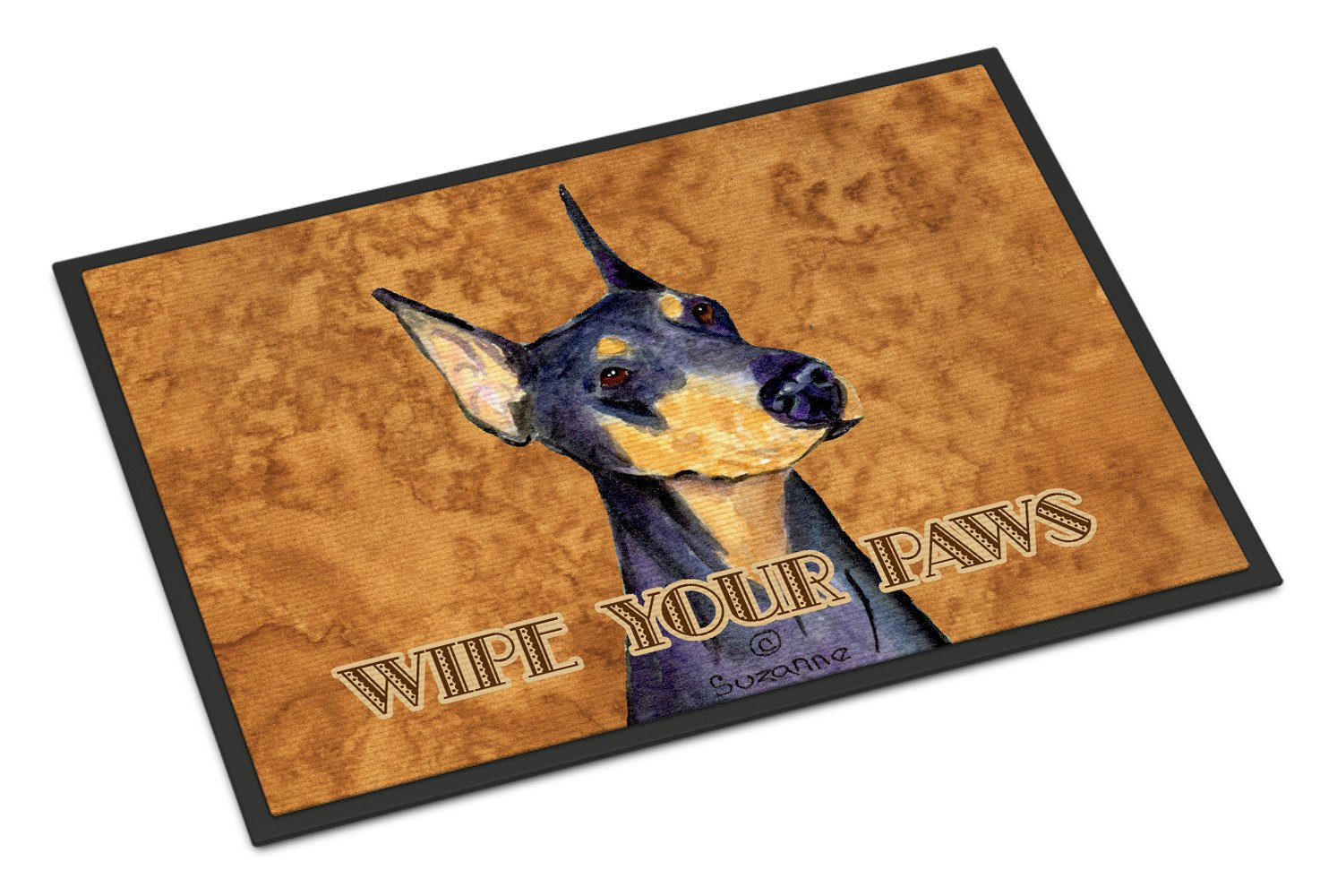 Black and Tan Doberman Wipe your Paws Indoor or Outdoor Mat 18x27 SS4891MAT - the-store.com