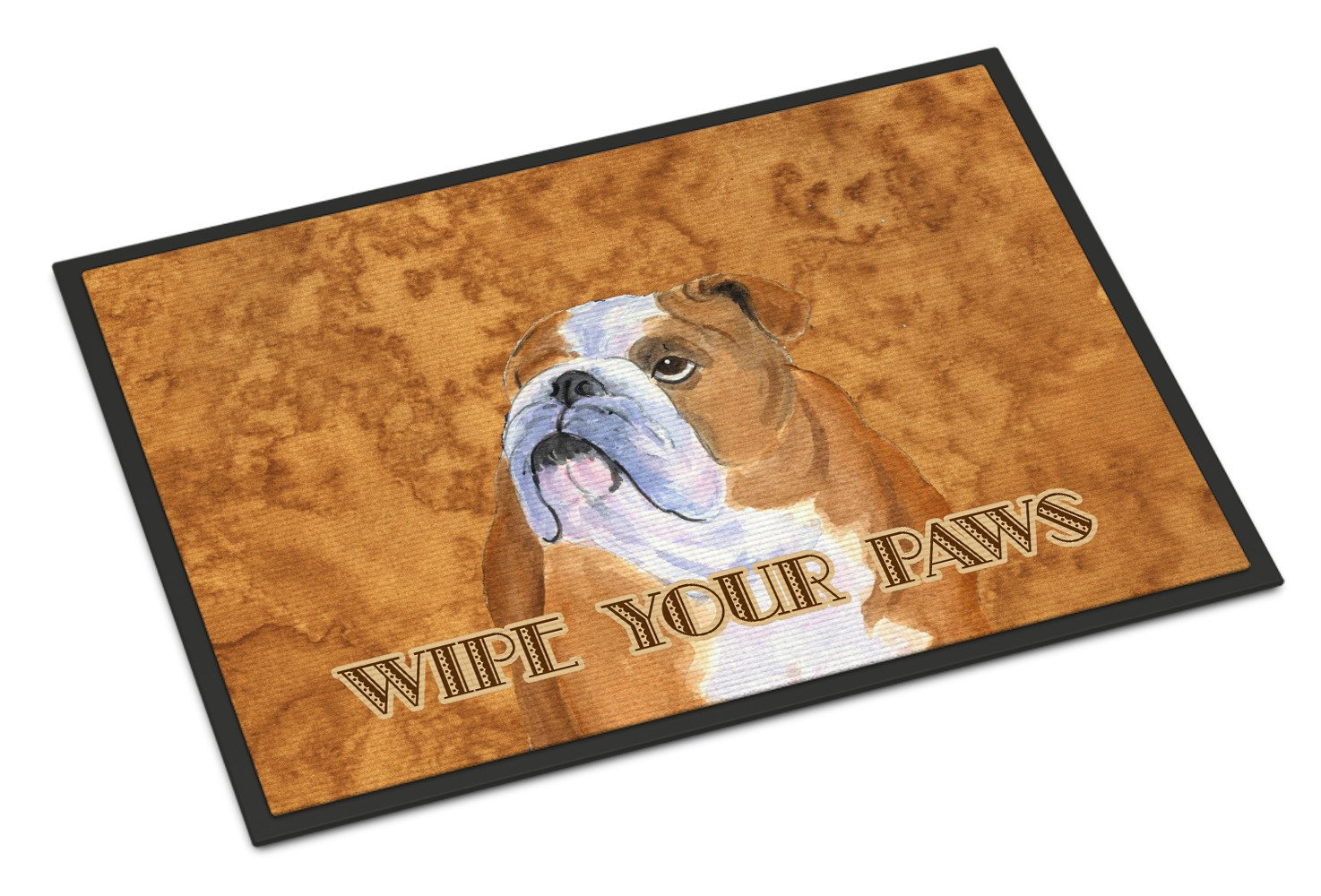 Bulldog English Wipe your Paws Indoor or Outdoor Mat 18x27 SS4893MAT - the-store.com