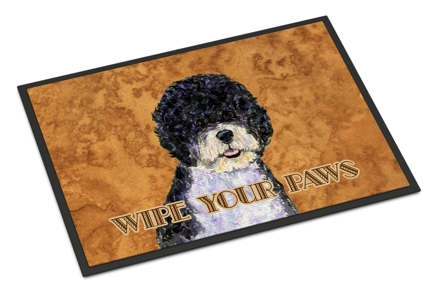 Portuguese Water Dog Wipe your Paws Indoor or Outdoor Mat 18x27 SS4894MAT - the-store.com