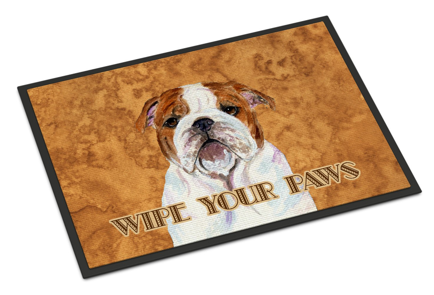 Bulldog English Wipe your Paws Indoor or Outdoor Mat 18x27 SS4896MAT - the-store.com