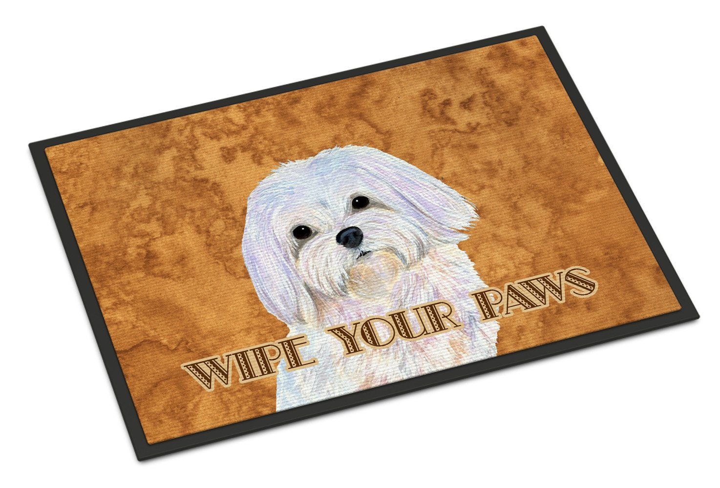 Puppy Cut Maltese Wipe your Paws Indoor or Outdoor Mat 18x27 SS4897MAT - the-store.com