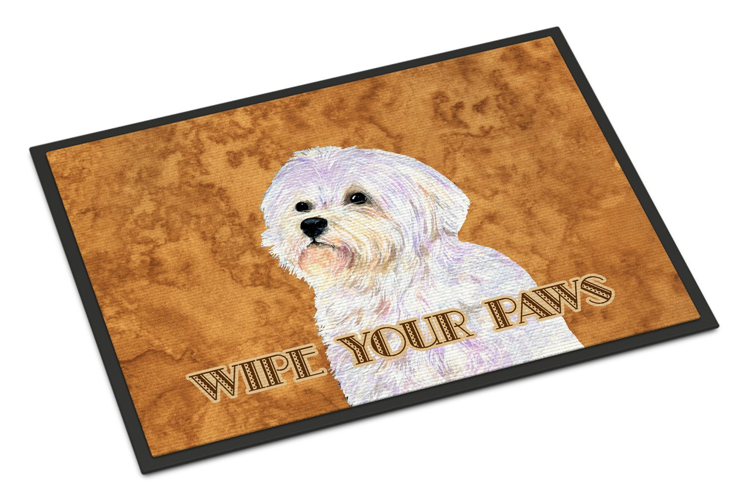 Puppy Cut Maltese Wipe your Paws Indoor or Outdoor Mat 18x27 SS4898MAT - the-store.com