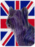 Buy this Skye Terrier with English Union Jack British Flag Glass Cutting Board Large Size SS4905LCB