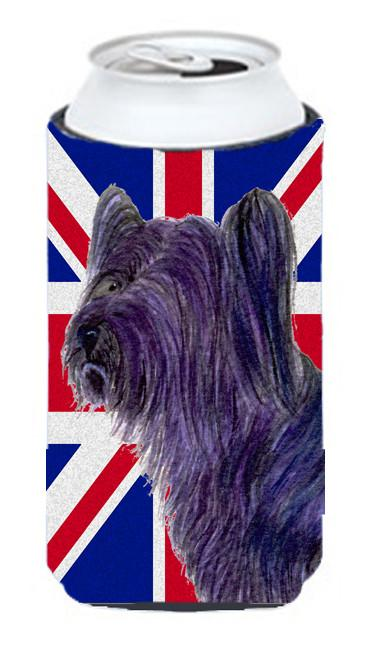 Buy this Skye Terrier with English Union Jack British Flag Tall Boy Beverage Insulator Hugger SS4905TBC