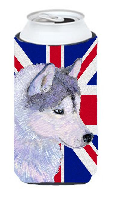 Siberian Husky with English Union Jack British Flag Tall Boy Beverage Insulator Hugger SS4906TBC by Caroline's Treasures