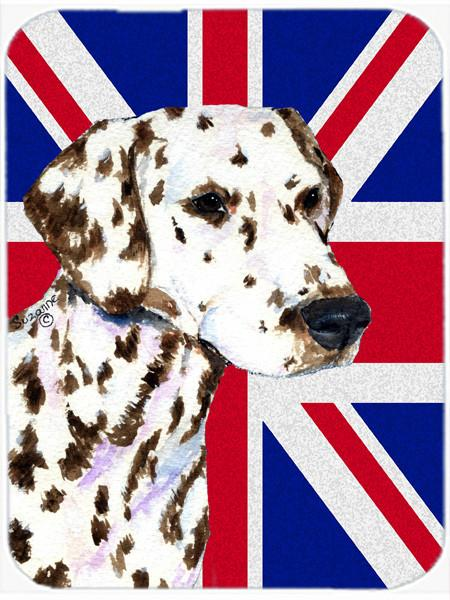 Dalmatian with English Union Jack British Flag Mouse Pad, Hot Pad or Trivet SS4911MP by Caroline's Treasures