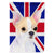 Buy this Chihuahua with English Union Jack British Flag Flag Garden Size