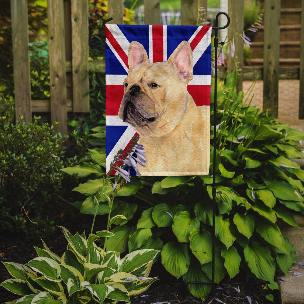 French Bulldog with English Union Jack British Flag Flag Garden Size SS4927GF by Caroline's Treasures