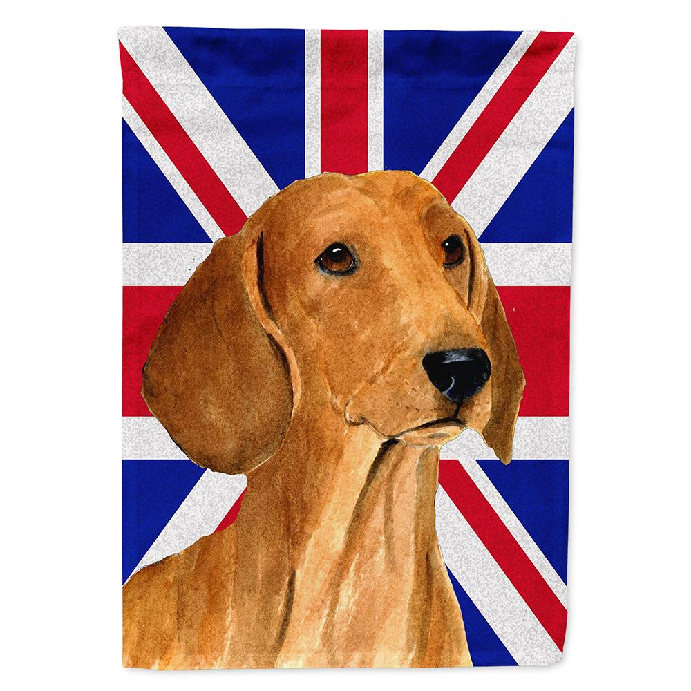 Buy this Dachshund with English Union Jack British Flag Flag Garden Size
