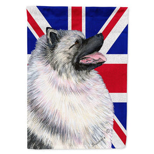 Buy this Keeshond with English Union Jack British Flag Flag Garden Size SS4930GF