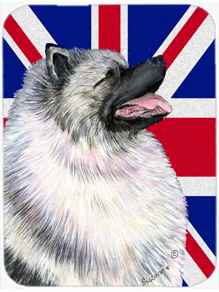 Keeshond with English Union Jack British Flag Mouse Pad, Hot Pad or Trivet SS4930MP by Caroline's Treasures