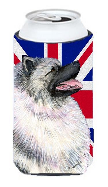 Keeshond with English Union Jack British Flag Tall Boy Beverage Insulator Hugger SS4930TBC by Caroline's Treasures