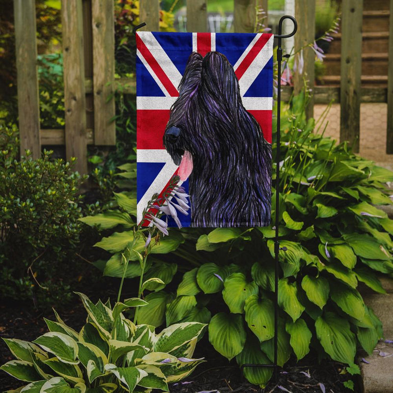 Buy this Briard with English Union Jack British Flag Flag Garden Size SS4931GF